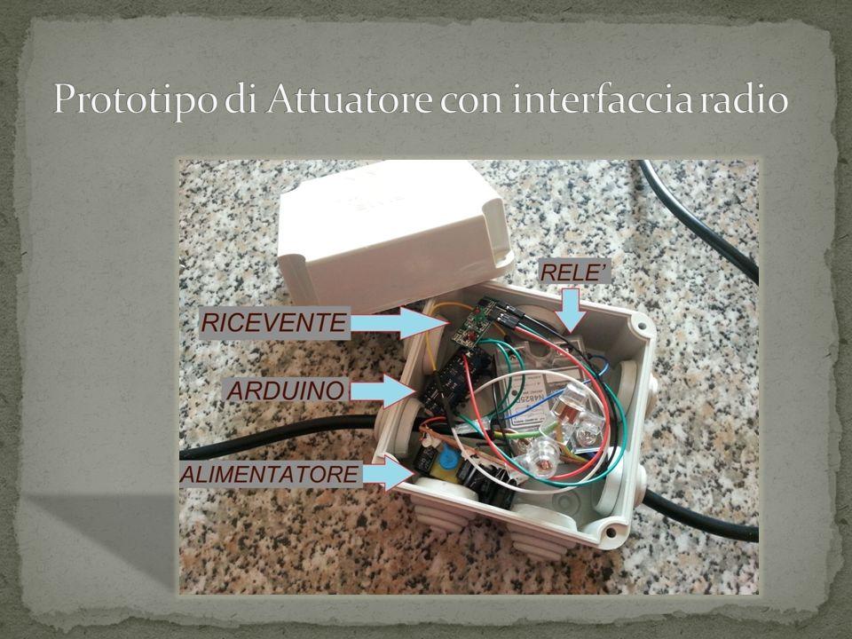 Prototipo di Attuatore con interfaccia radio