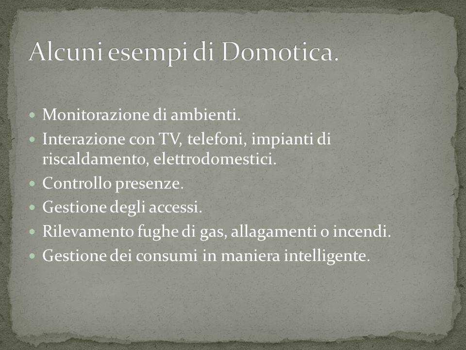 Alcuni esempi di Domotica.