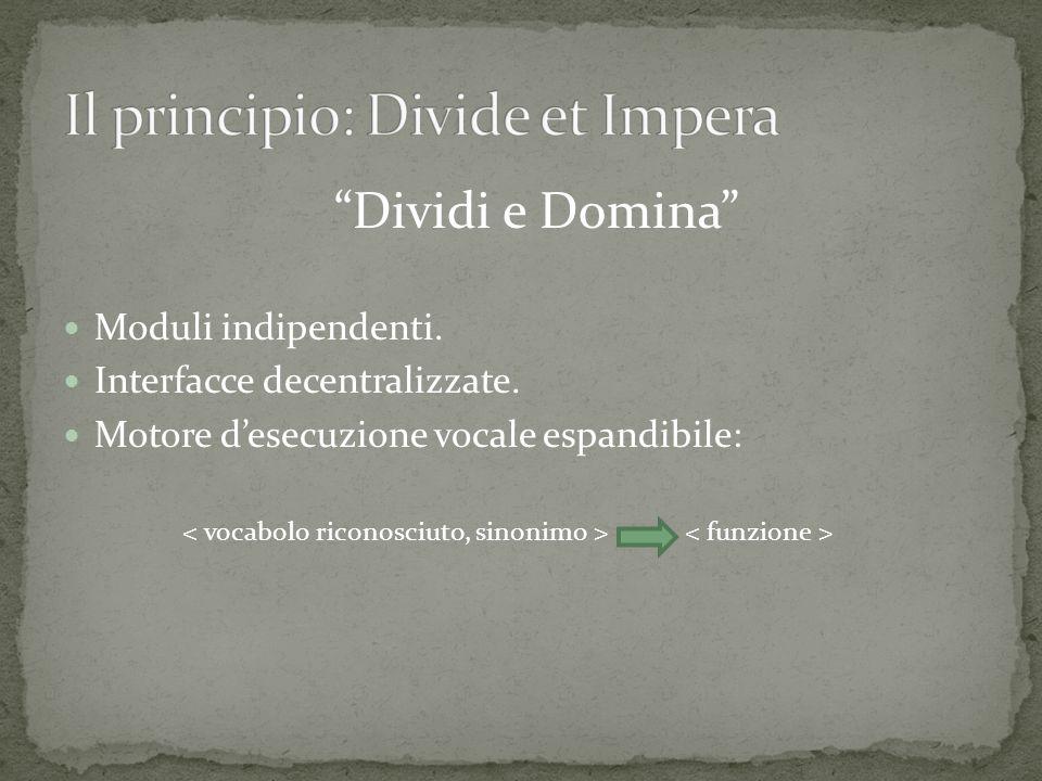 Il principio: Divide et Impera