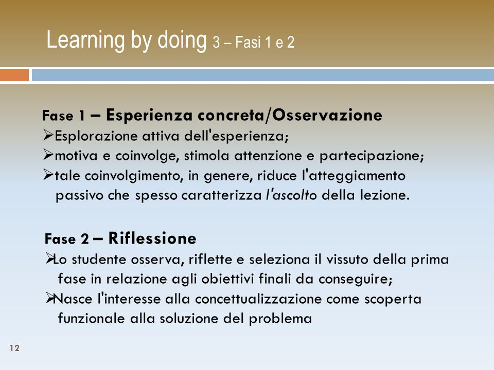 Learning by doing 3 – Fasi 1 e 2