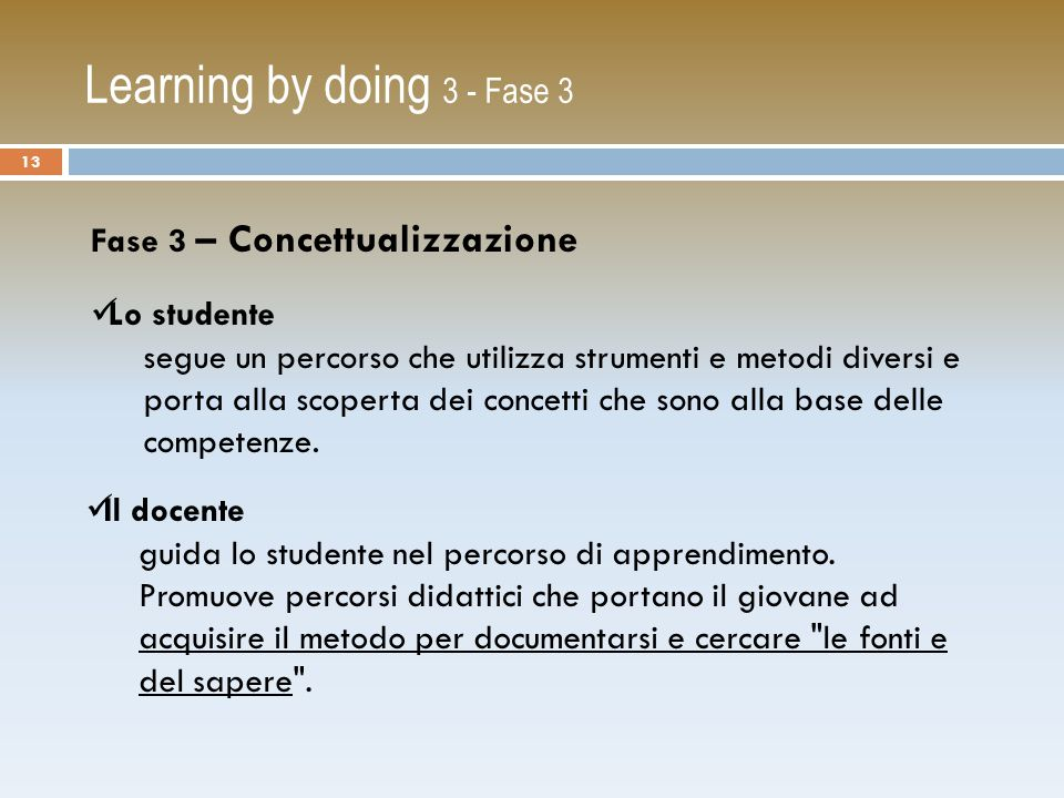Learning by doing 3 - Fase 3