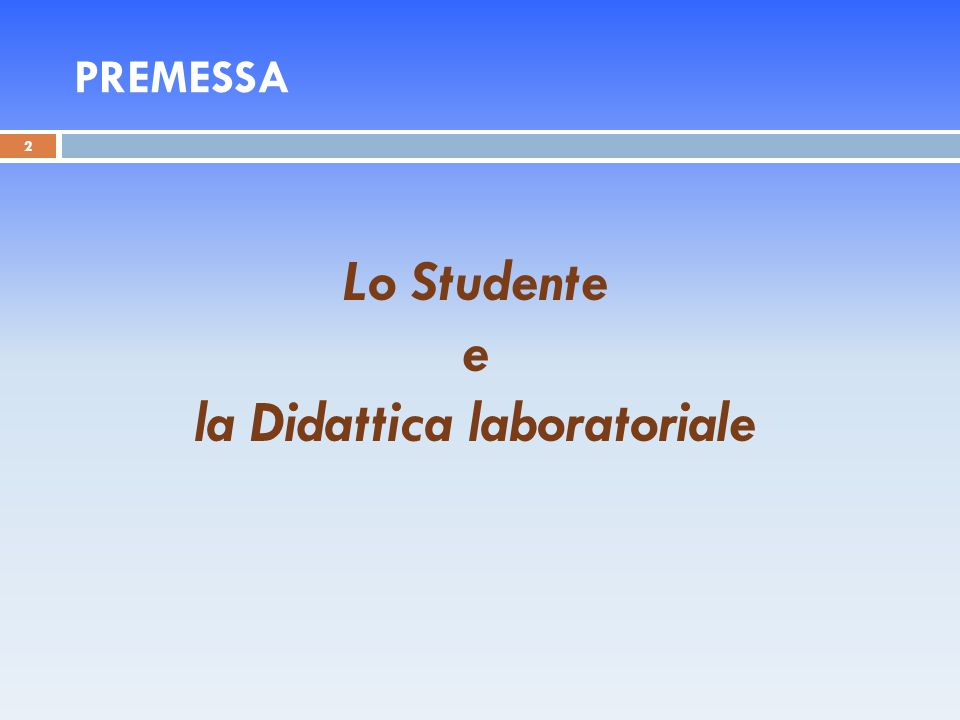 la Didattica laboratoriale