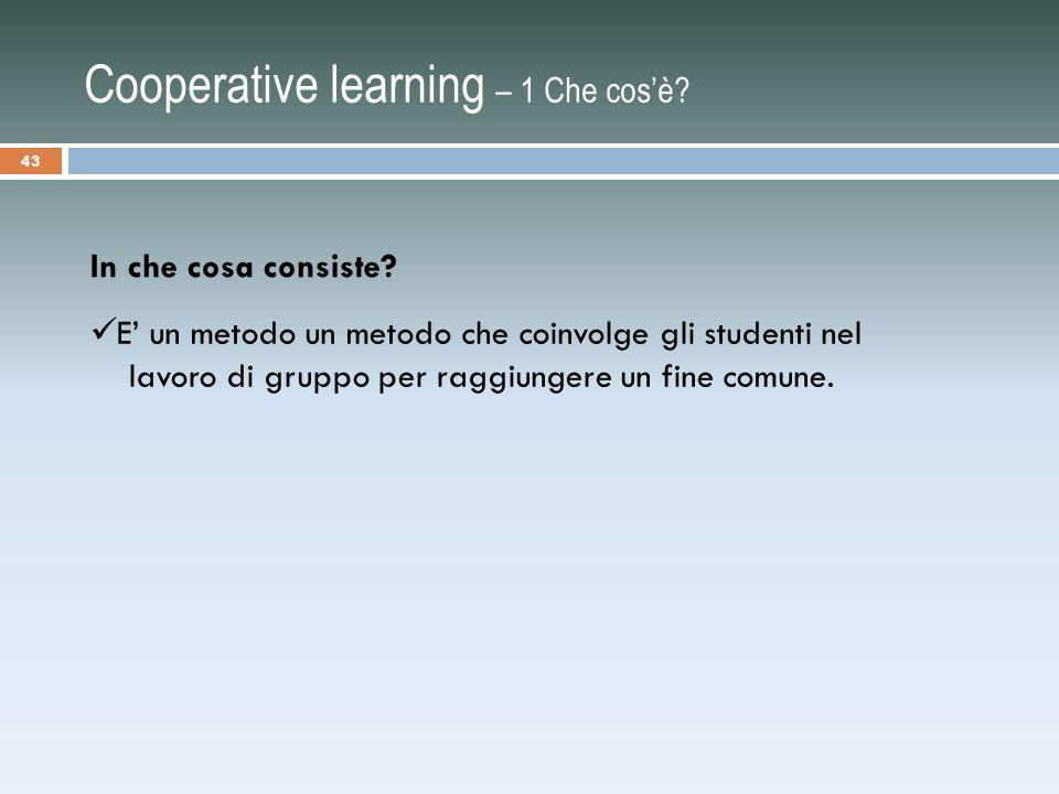 Cooperative learning – 1 Che cos'è