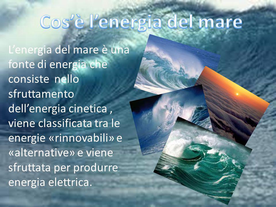 Cos'è l'energia del mare
