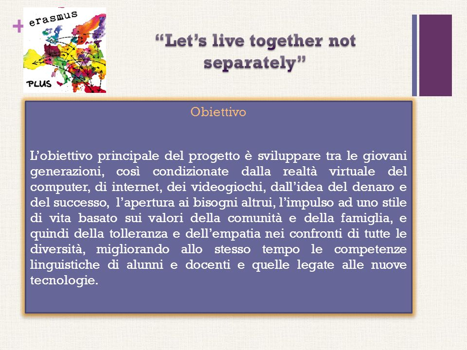 Let's live together not separately