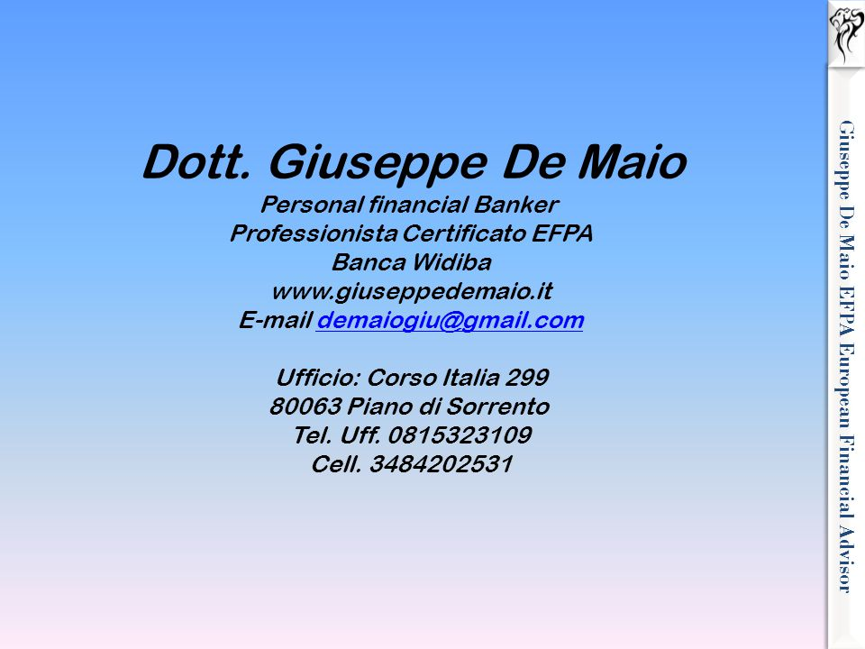 Giuseppe De Maio EFPA European Financial Advisor
