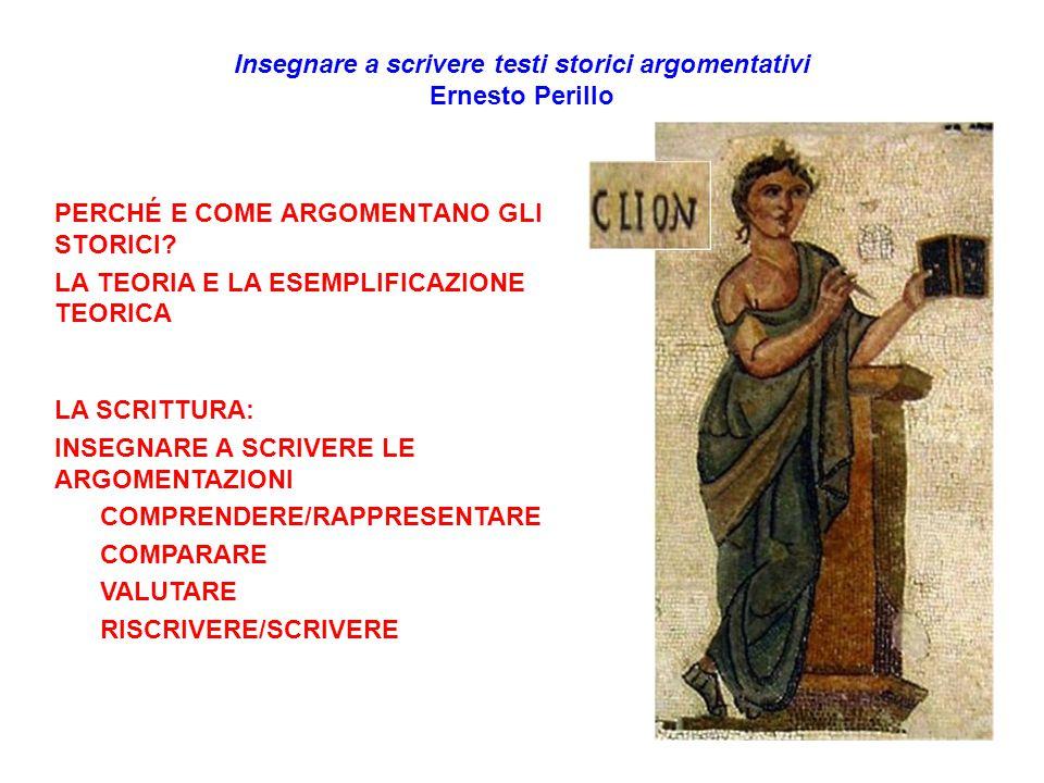 Insegnare a scrivere testi storici argomentativi Ernesto Perillo