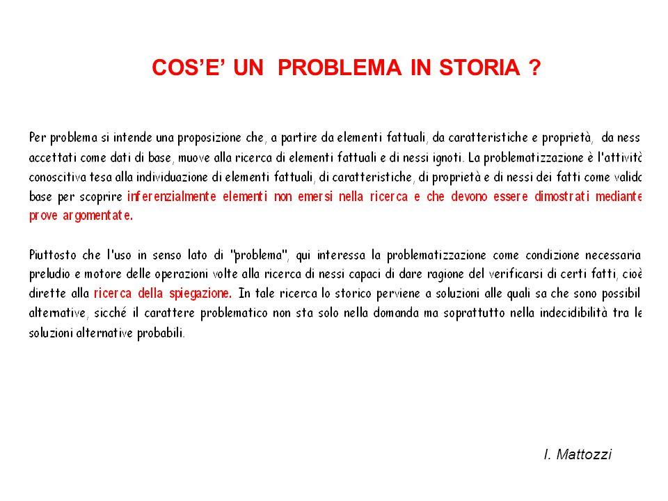 COS'E' UN PROBLEMA IN STORIA