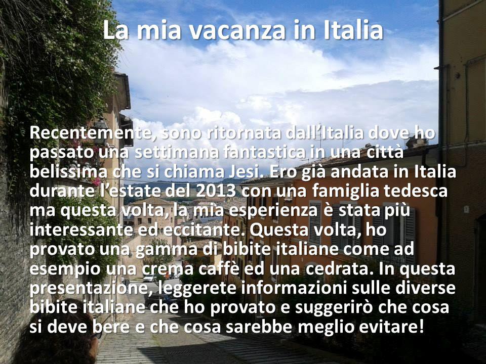 La mia vacanza in Italia