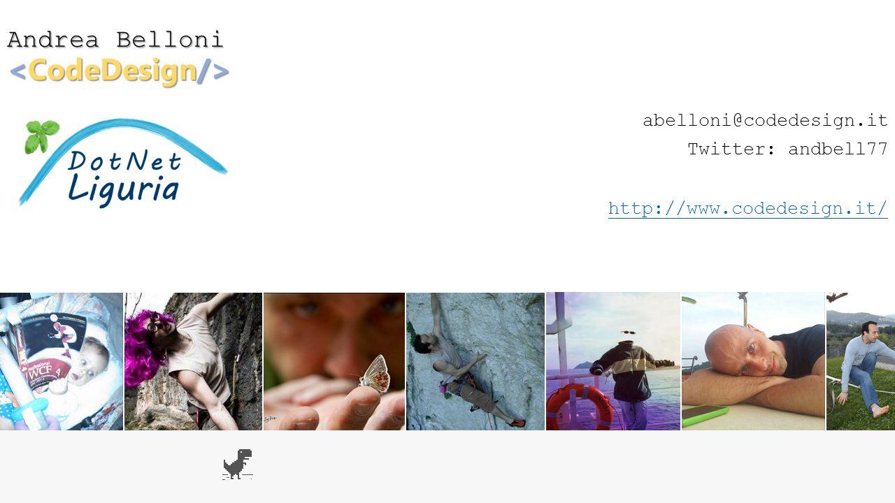 <CodeDesign/> Andrea Belloni abelloni@codedesign.it