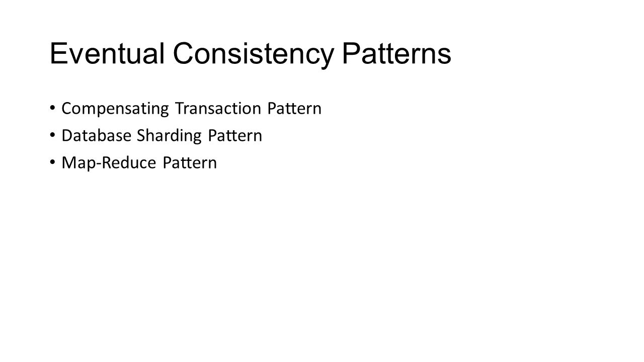Eventual Consistency Patterns