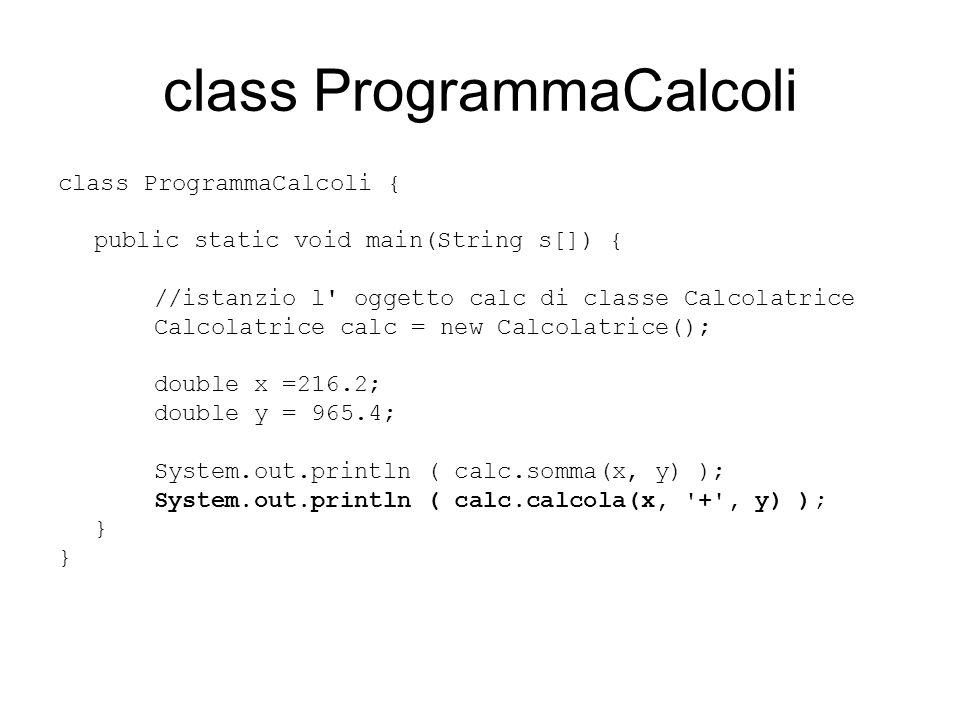class ProgrammaCalcoli