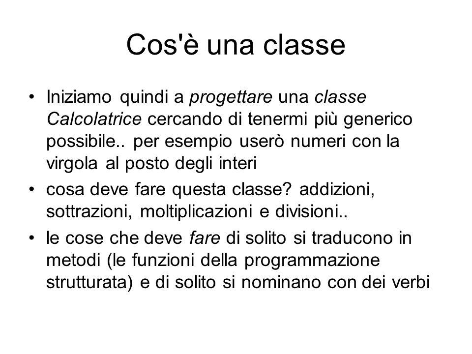 Cos è una classe