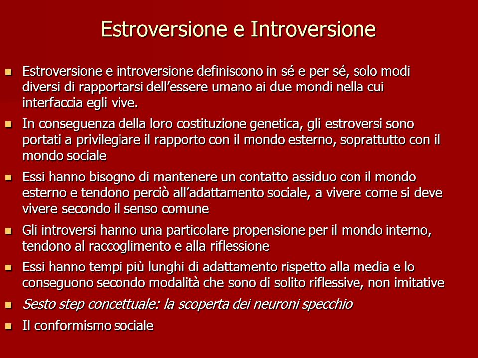 Estroversione e Introversione