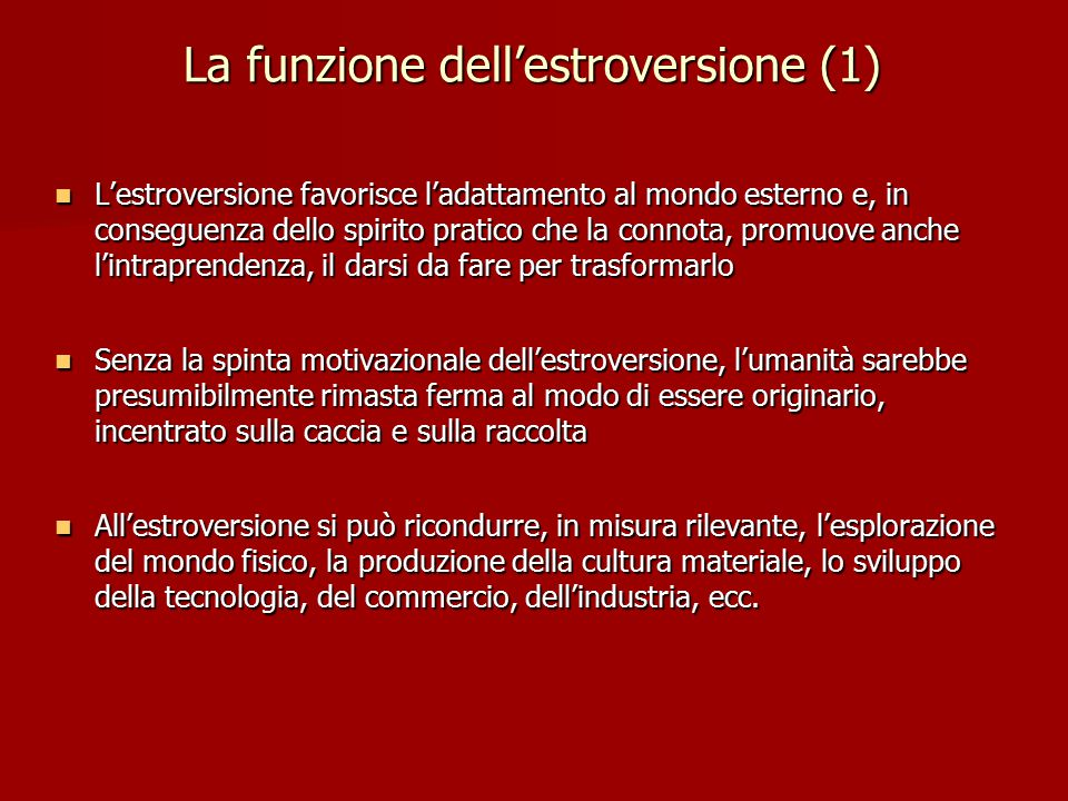 La funzione dell'estroversione (1)