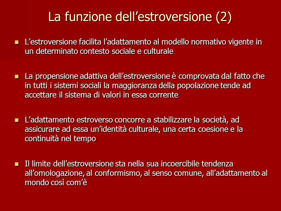 La funzione dell'estroversione (2)