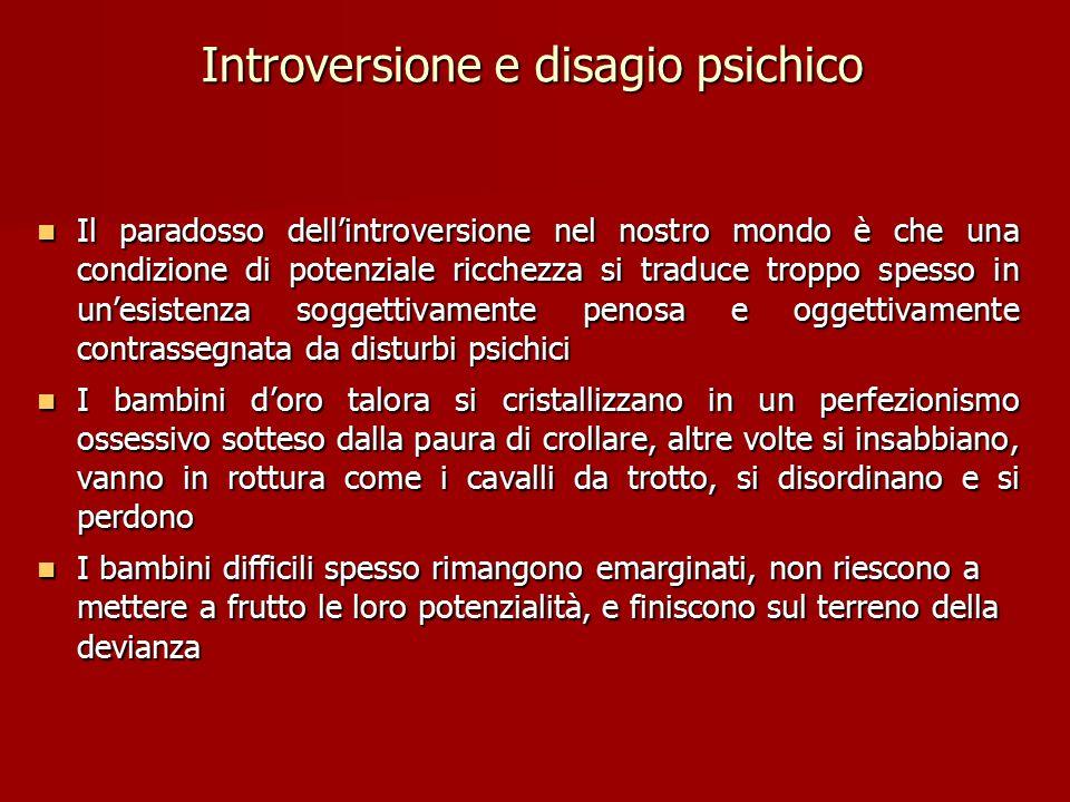 Introversione e disagio psichico