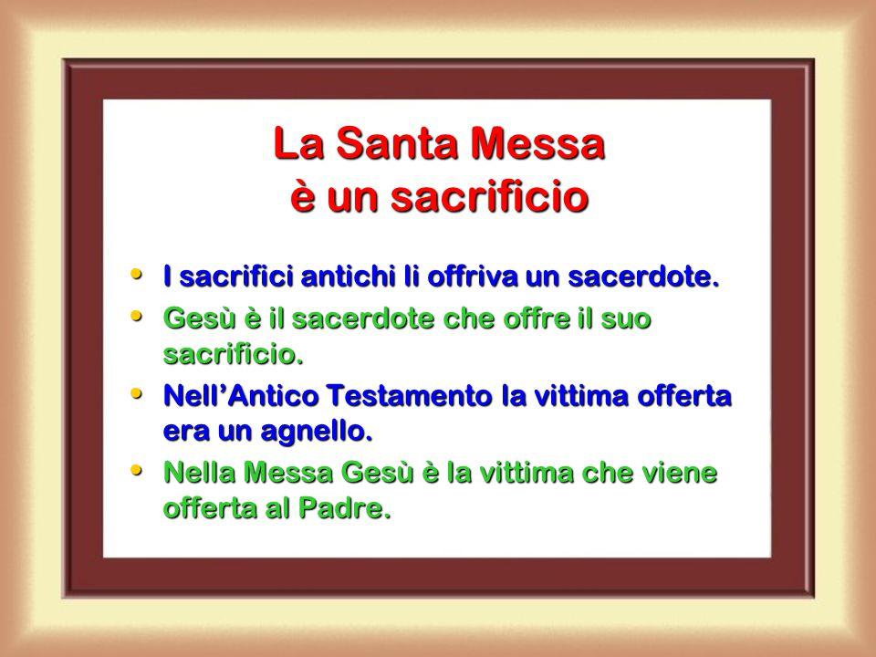 La Santa Messa è un sacrificio