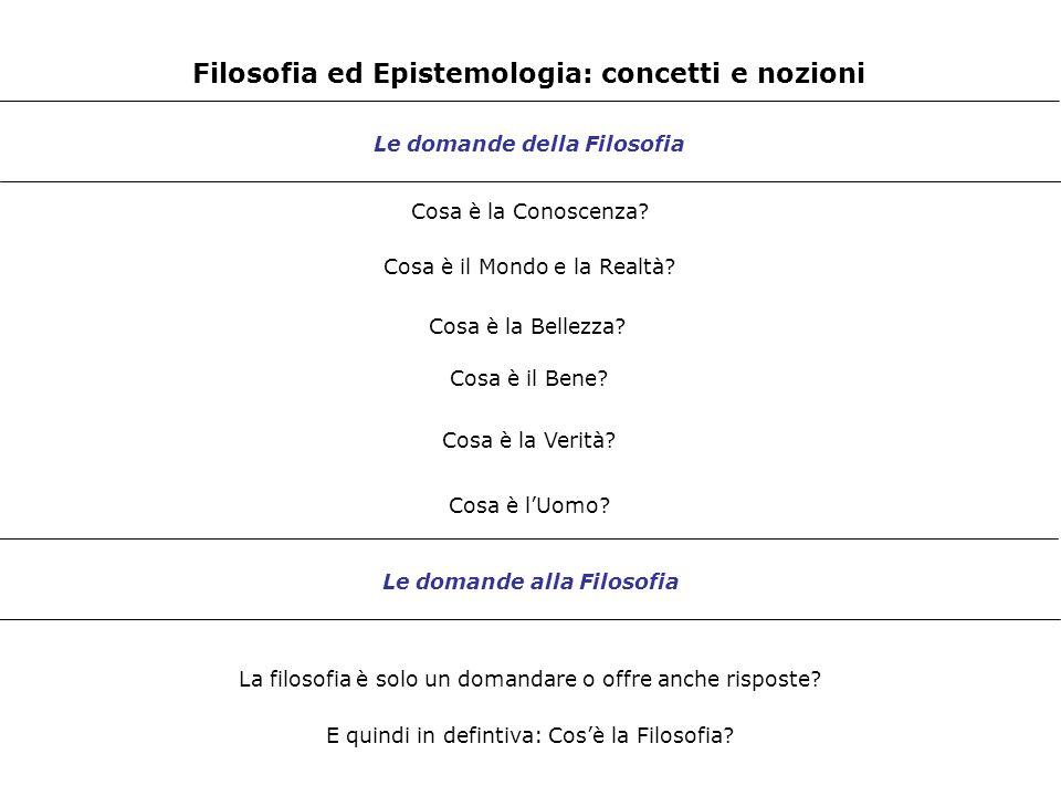 Filosofia ed Epistemologia: concetti e nozioni