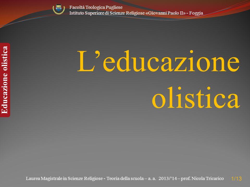 L'educazione olistica