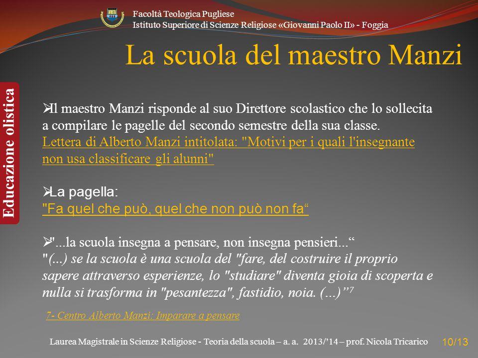 La scuola del maestro Manzi