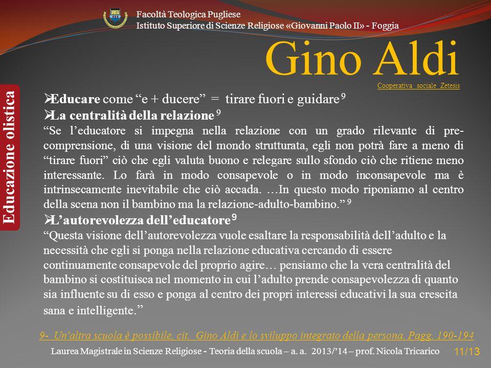 Gino Aldi Cooperativa sociale Zetesis