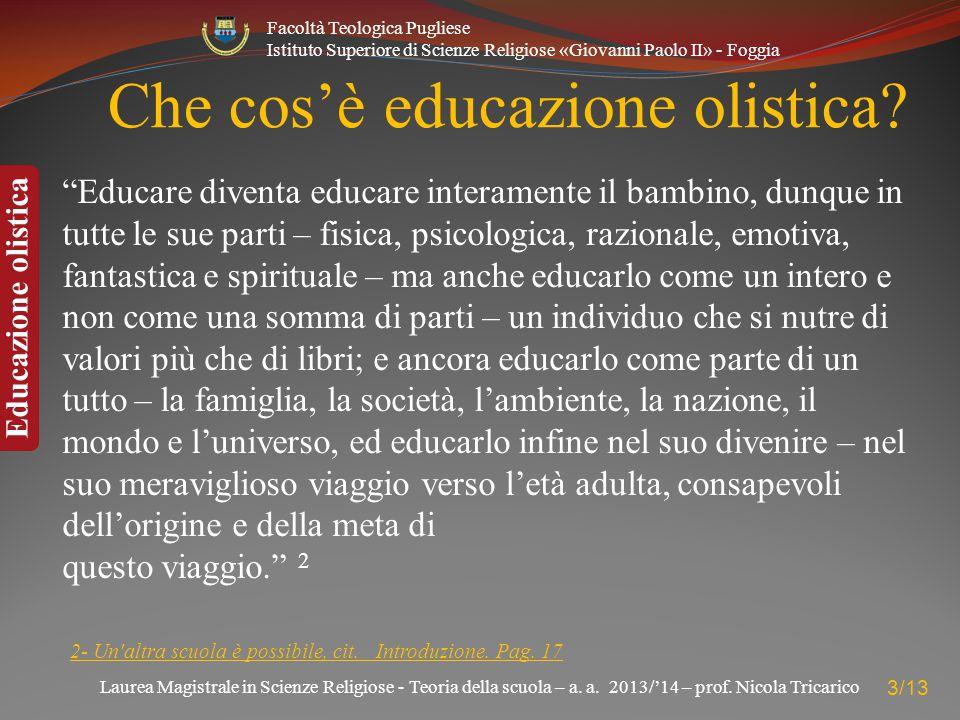 Che cos'è educazione olistica