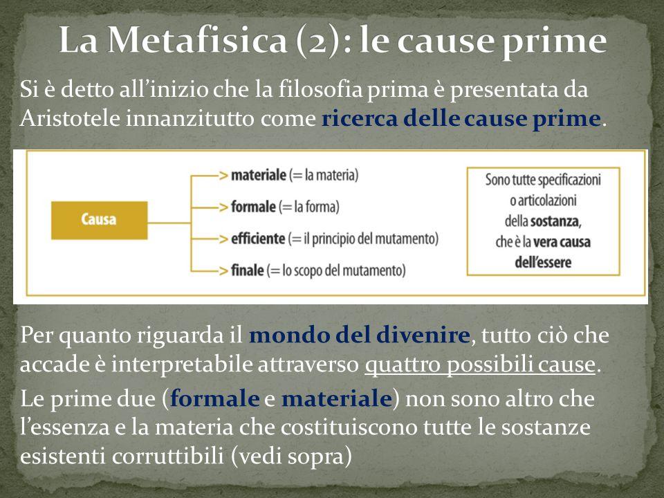 La Metafisica (2): le cause prime