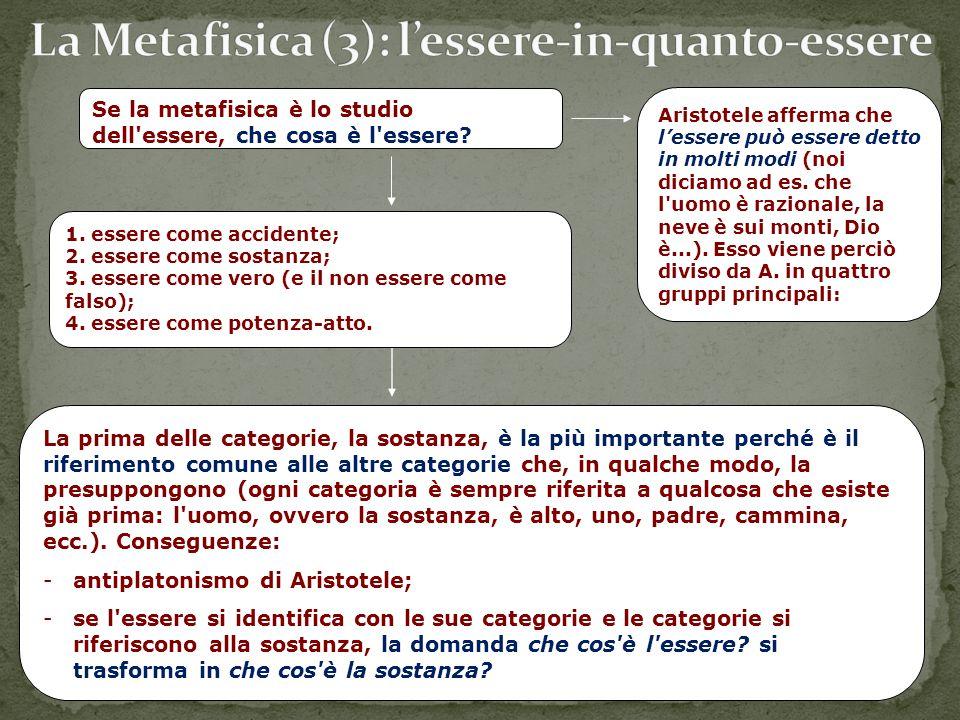 La Metafisica (3): l'essere-in-quanto-essere