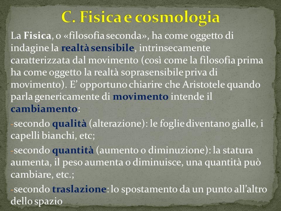 C. Fisica e cosmologia
