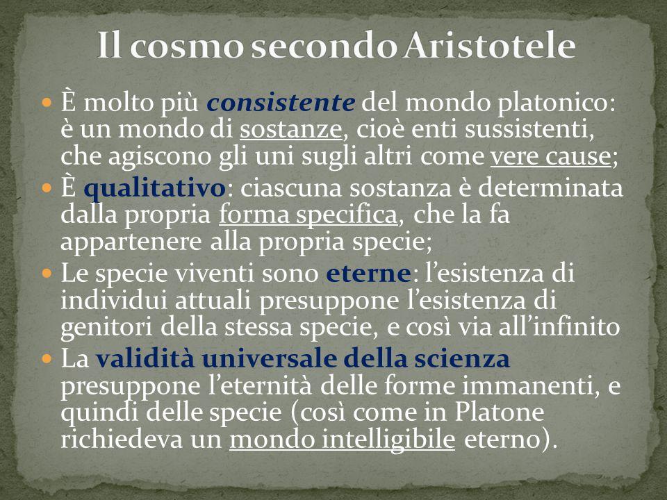 Il cosmo secondo Aristotele