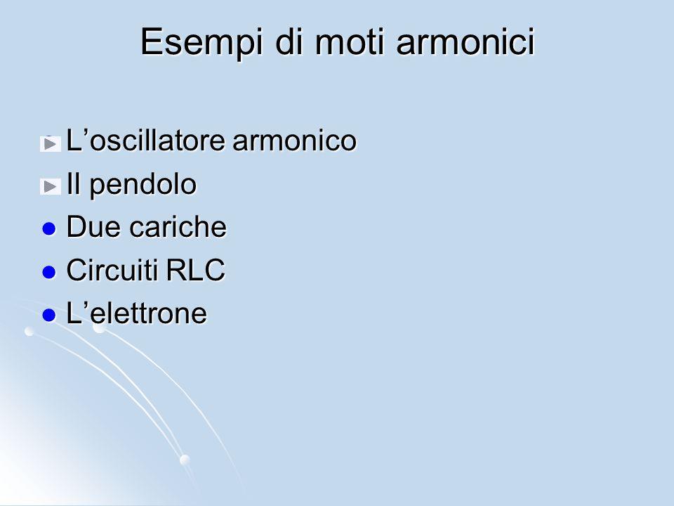 Esempi di moti armonici