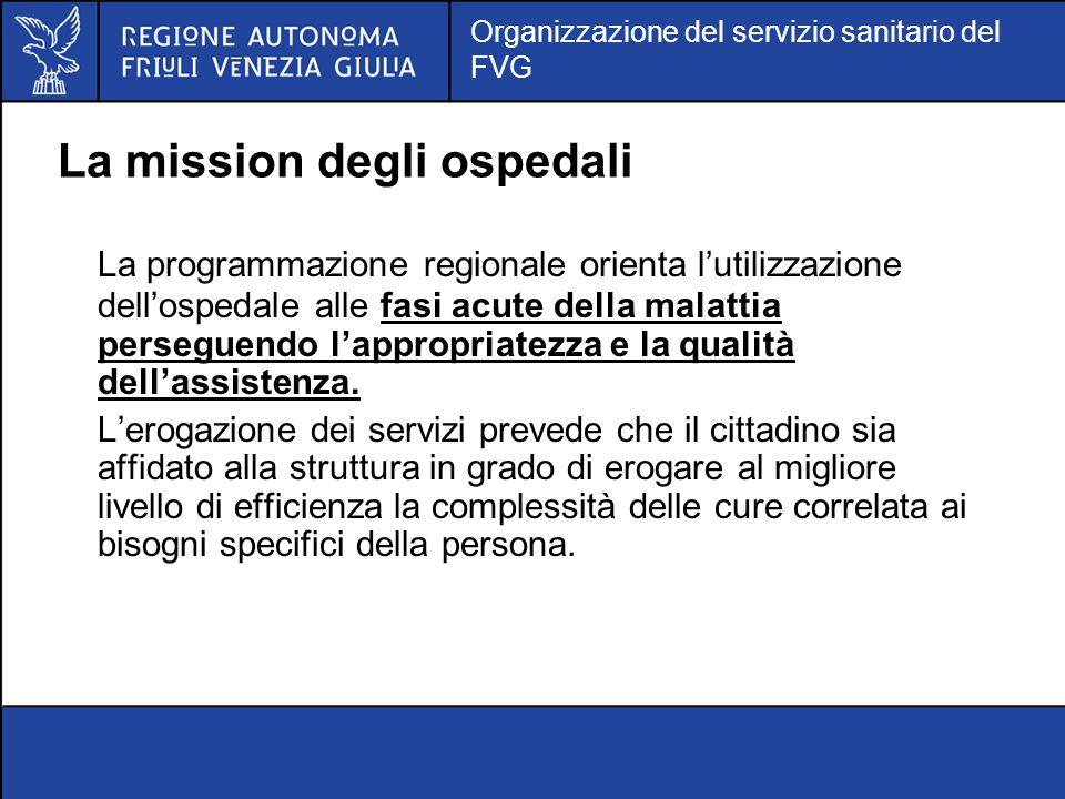La mission degli ospedali