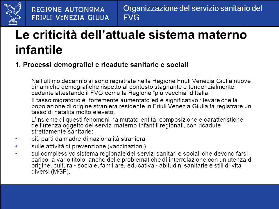 Le criticità dell'attuale sistema materno infantile