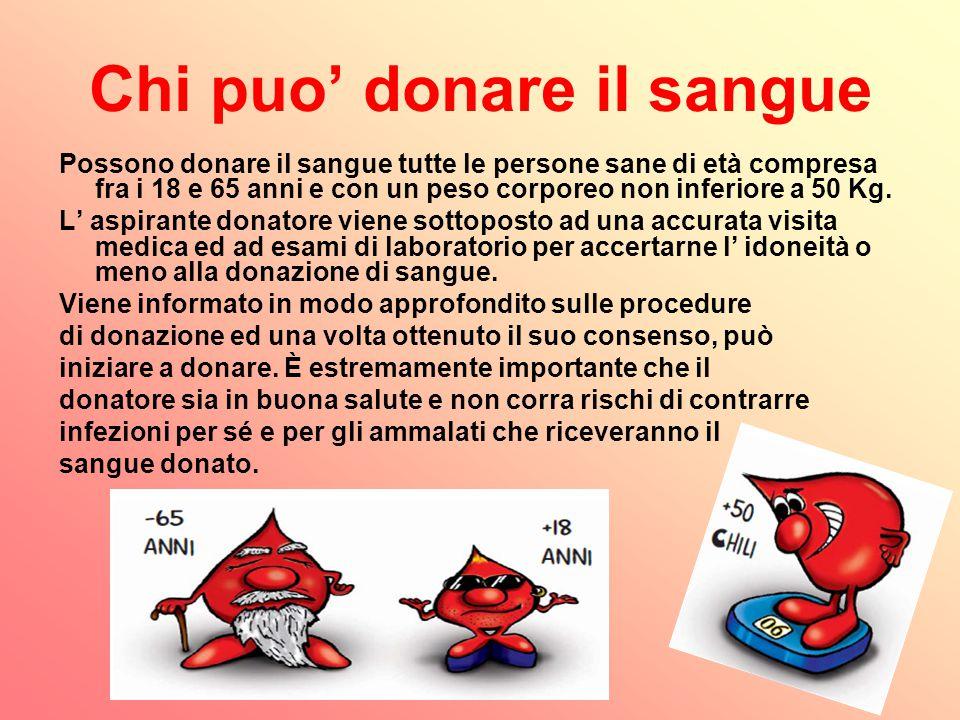 Chi puo' donare il sangue