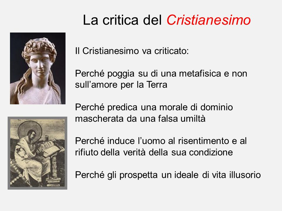 La critica del Cristianesimo