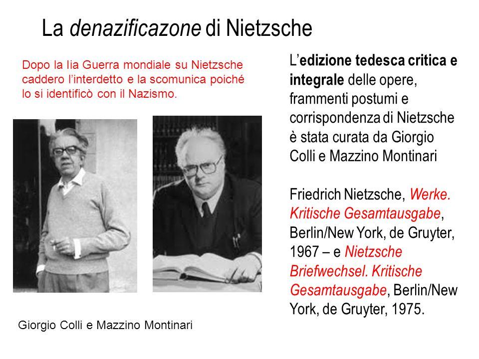 La denazificazone di Nietzsche
