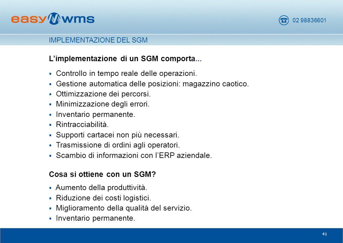 L'implementazione di un SGM comporta...