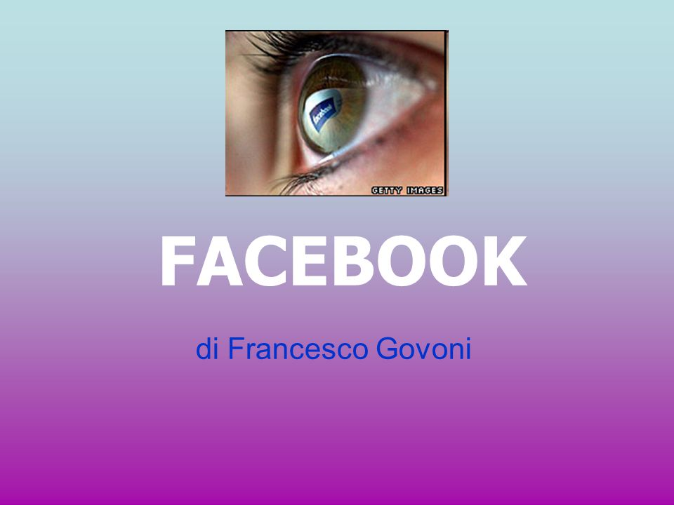 FACEBOOK di Francesco Govoni