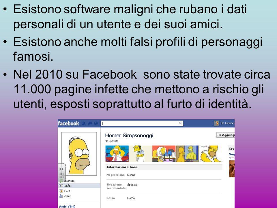 Esistono software maligni che rubano i dati personali di un utente e dei suoi amici.