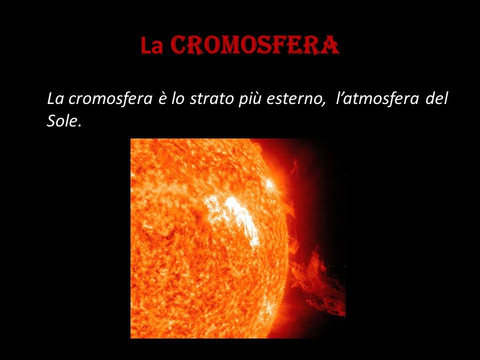 La CROMOSFERA La cromosfera è lo strato più esterno, l'atmosfera del Sole.