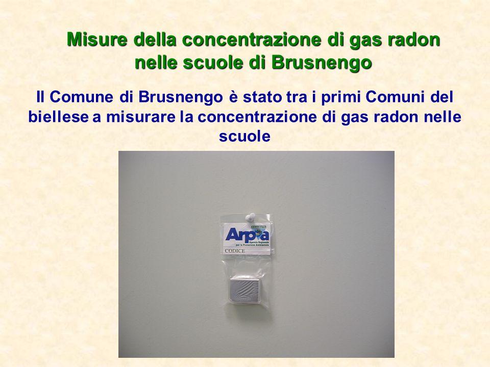 Misure della concentrazione di gas radon nelle scuole di Brusnengo