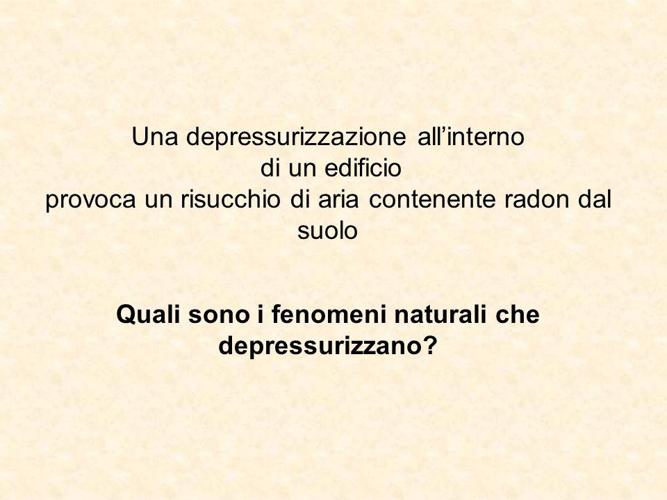 Quali sono i fenomeni naturali che depressurizzano