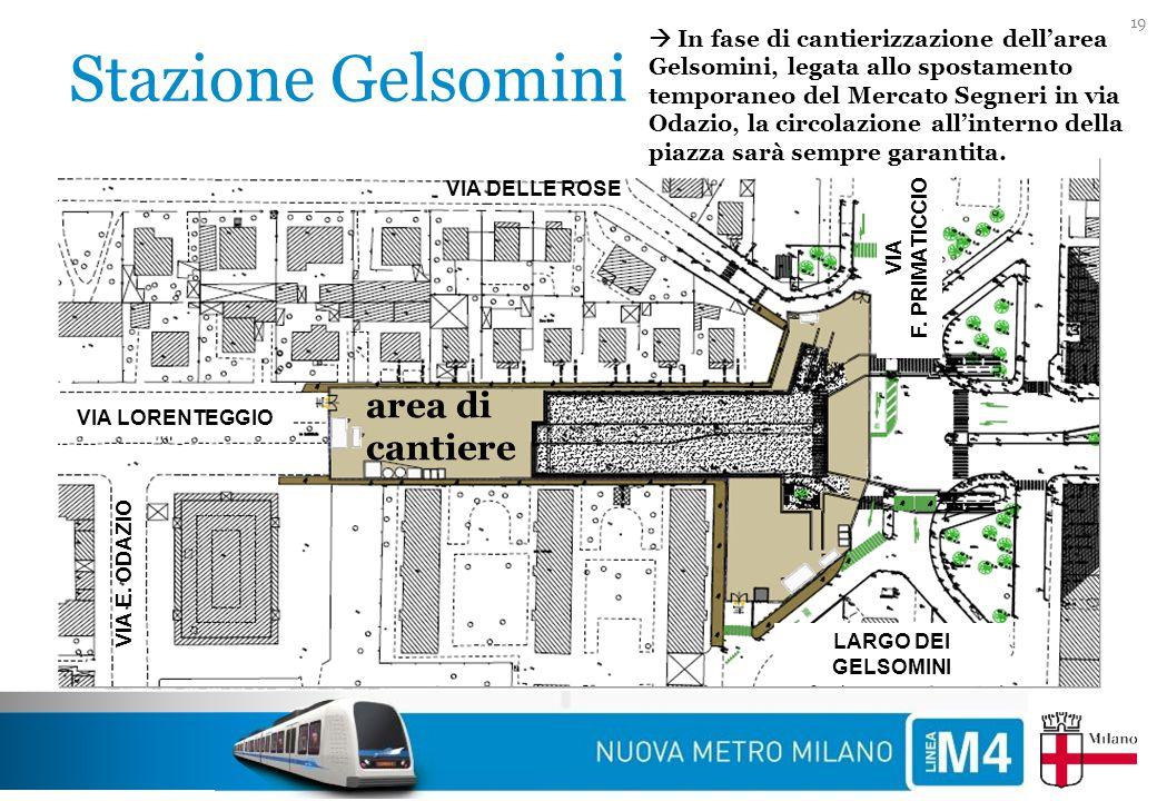Stazione Gelsomini area di cantiere