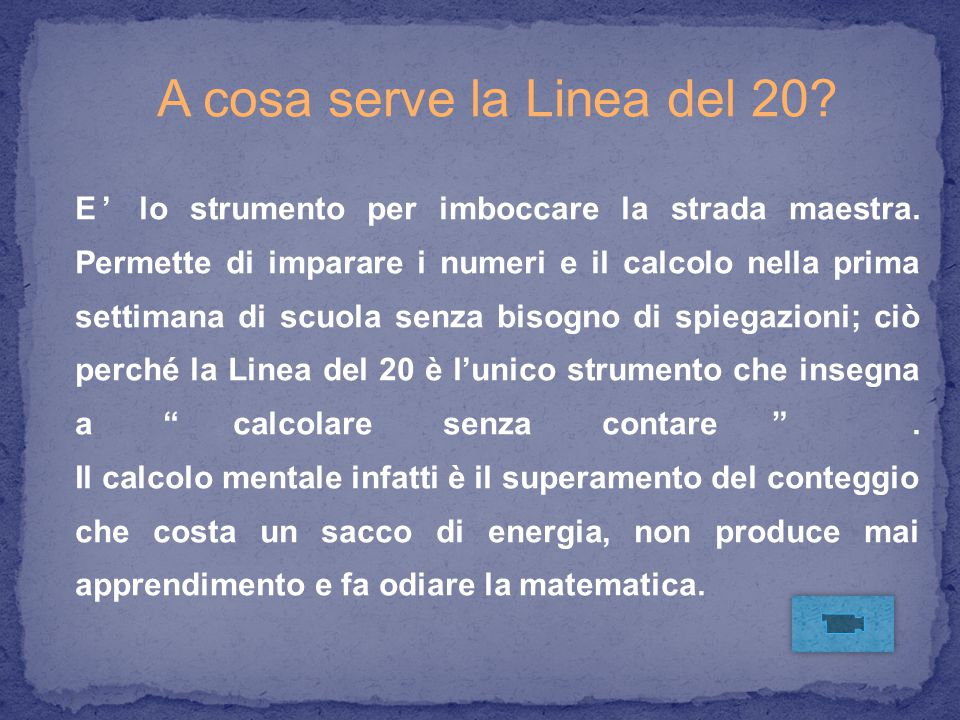 A cosa serve la Linea del 20