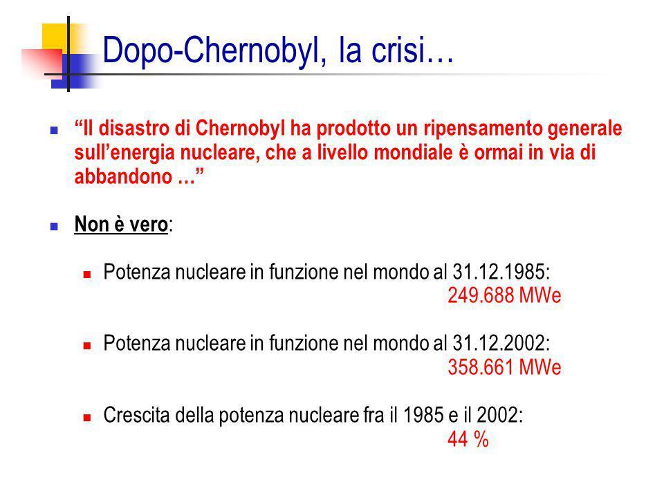 Dopo-Chernobyl, la crisi…