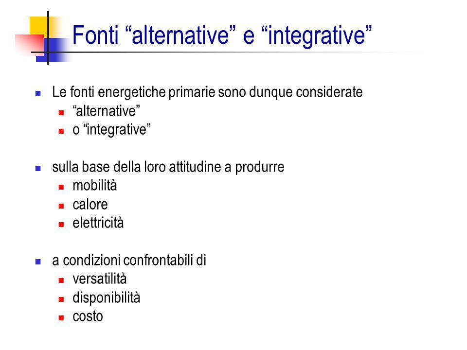 Fonti alternative e integrative