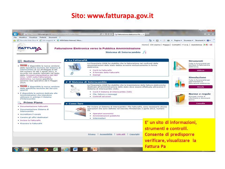 Sito: www.fatturapa.gov.it