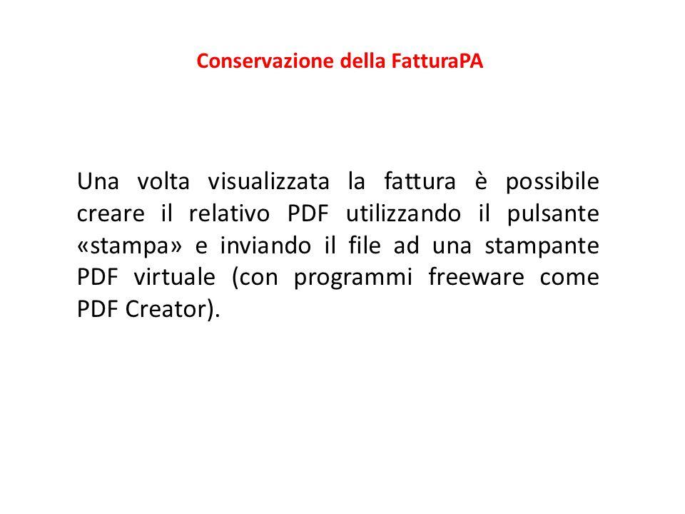 Conservazione della FatturaPA