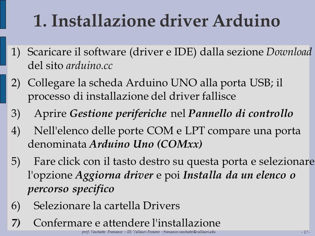 1. Installazione driver Arduino